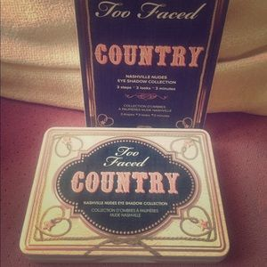 Too Faced Country Mini Tin Palette Retired Rare